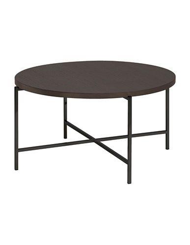 Brands | Coffee & Side Tables | Bergen Smoked Oak Top Round Coffee Pertaining To Smoked Oak Coffee Tables (View 33 of 40)