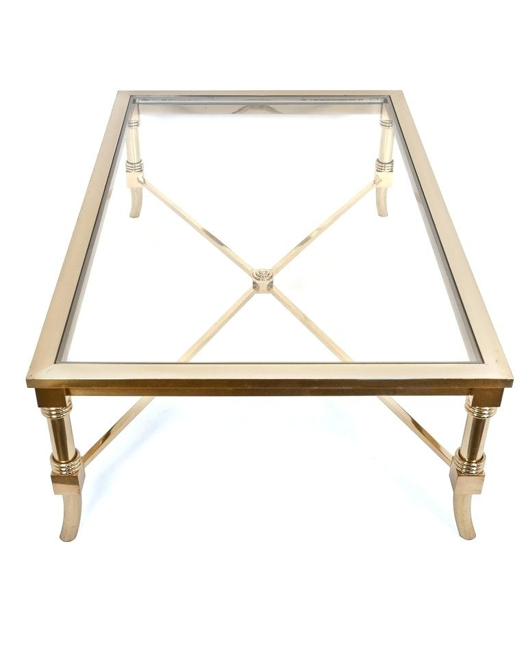 Brass And Glass Coffee Table Popular Of Brass And Glass Coffee Table For Antique Brass Coffee Tables (Image 8 of 40)