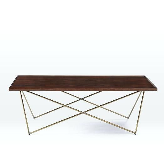 Brass And Wood Coffee Table Antique Brass And Wood Coffee Table With Joni Brass And Wood Coffee Tables (Image 7 of 40)