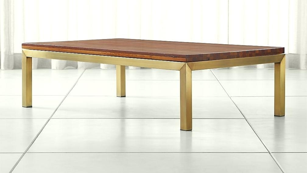 Brass And Wood Coffee Table Best Parsons Reclaimed Wood Top Brass Pertaining To Joni Brass And Wood Coffee Tables (Image 9 of 40)