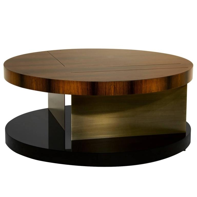 Brass And Wood Coffee Table Brass And Wood Coffee Table With Joni Brass And Wood Coffee Tables (Image 11 of 40)