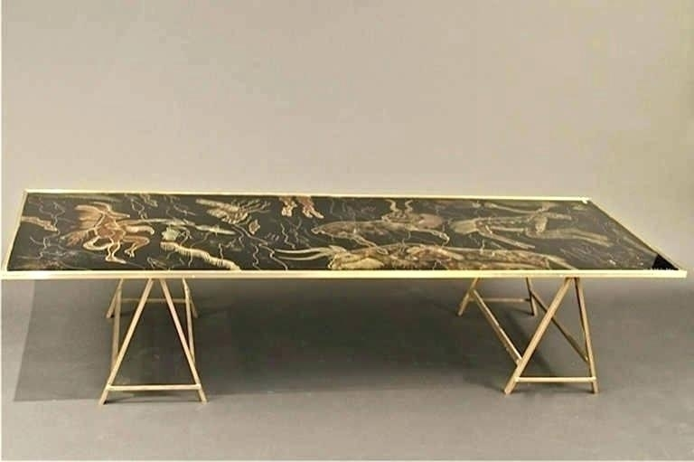 Brass Coffee Table Legs Inside Slab Large Marble Coffee Tables With Brass Base (Image 6 of 40)