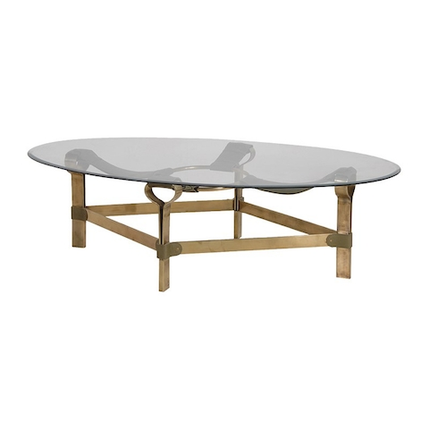 Brass Finish/glass Coffee Table – Ambika Interiors For Rectangular Brass Finish And Glass Coffee Tables (View 13 of 40)