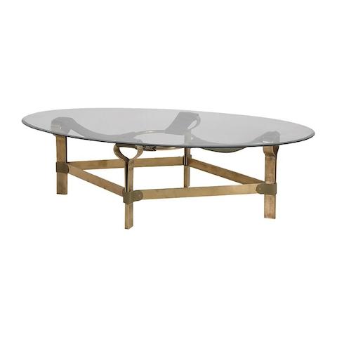 Brass Finish/glass Coffee Table – Ambika Interiors For Rectangular Brass Finish And Glass Coffee Tables (Image 2 of 40)