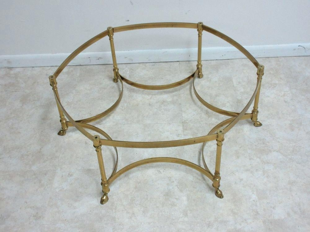 Brass Round Coffee Table Vintage Brass Hoof Foot Round Coffee Table With Darbuka Brass Coffee Tables (View 24 of 40)