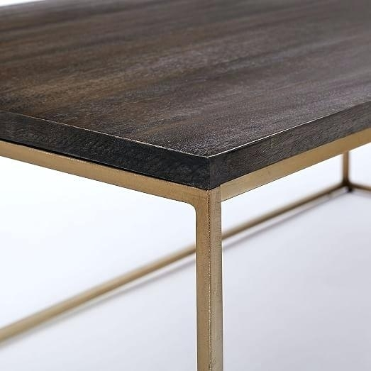 Brass Walnut Cube Side Table And Wood Coffee Joni – Performanceschool Inside Joni Brass And Wood Coffee Tables (Image 20 of 40)