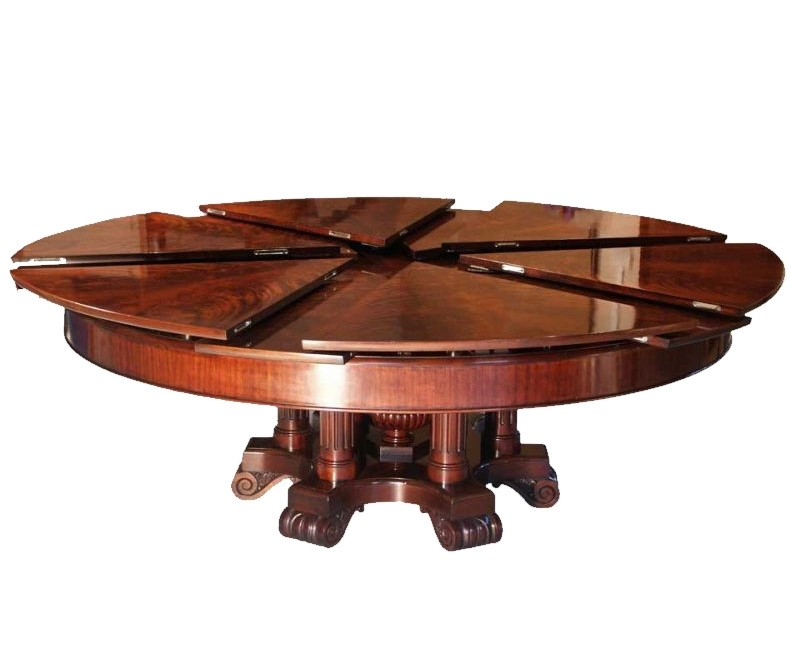 Brilliant Expanding Round Table Fletcher Capstan Worlds Coolest Intended For Spin Rotating Coffee Tables (Image 6 of 40)