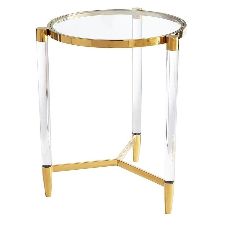 Brilliant Jonathan Adler Jacques Acrylic Brass Coffee Table Inside Within Acrylic Glass And Brass Coffee Tables (View 19 of 40)