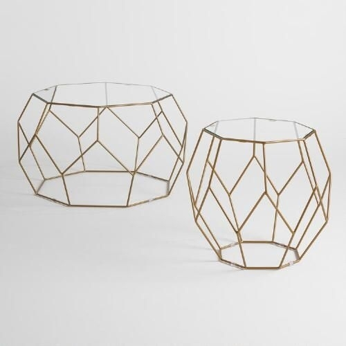 31 Collection Of Geo Faceted Coffee Tables