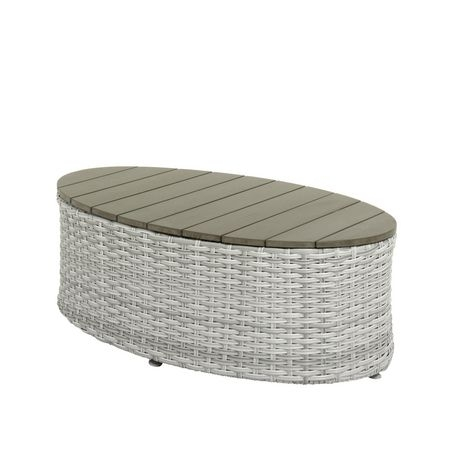 Brisbane Weather Resistant Resin Wicker Oval Patio Coffee Table In Brisbane Oval Coffee Tables (Image 5 of 40)