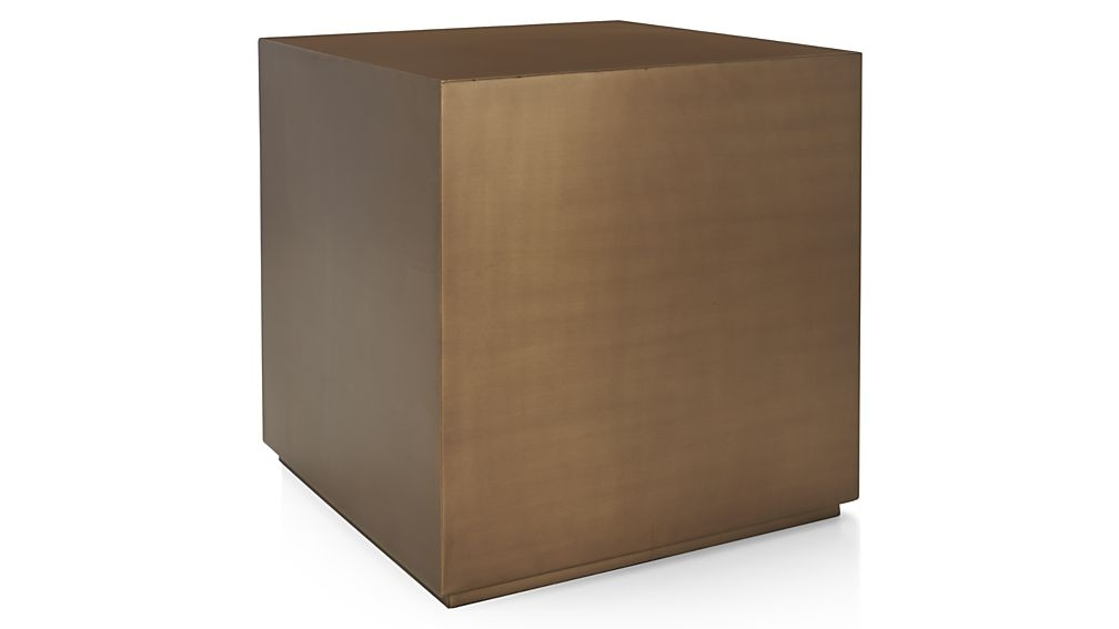 Bronze Accent Table – Interesting Skinny Accent Table Hall Accent Throughout Aged Iron Cube Tables (Image 10 of 40)