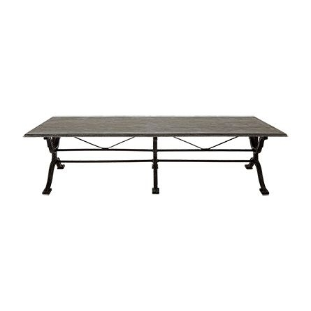 "Buchon 54"" Rectangle Iron Coffee Table With Bluestone Top Intended For Bluestone Rustic Black Coffee Tables (Image 22 of 40)"