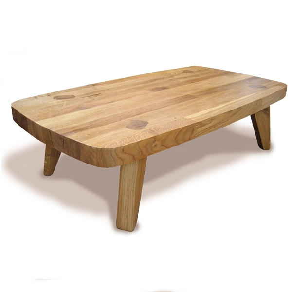 Bulldog Solid Oak Low Coffee Table With Kai Small Coffee Tables (Image 10 of 40)