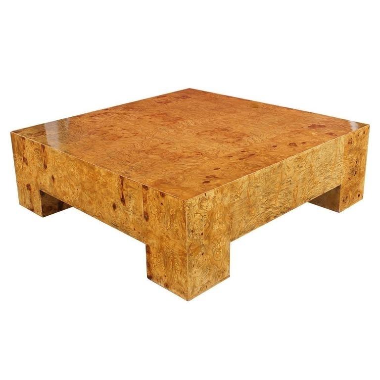 Burl Wood Coffee Table – Rascalartsnyc Within Oslo Burl Wood Veneer Coffee Tables (Image 6 of 40)