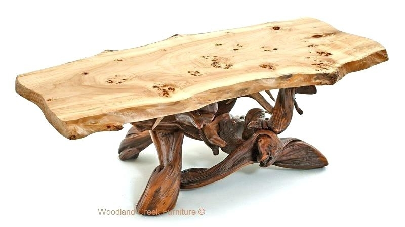 Burled Wood Coffee Table Wisteria Oslo Burl Wood Veneer Collection Intended For Oslo Burl Wood Veneer Coffee Tables (Image 14 of 40)