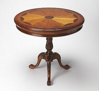 Butler Carissa Olive Ash Burl Round Pedestal Table 0533101 – $ (Image 9 of 40)