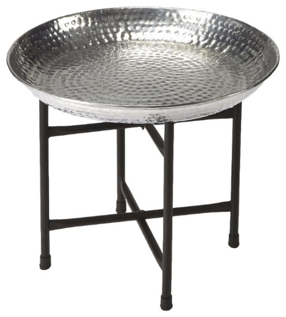 Butler Casbah Metal Tray Table – Contemporary – Serving Trays – For Casbah Coffee Side Tables (Image 7 of 40)