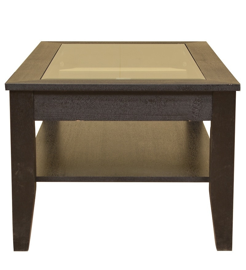 Buy Abby Glass Top Veneer Centre Table In Dark Brown Colour In Abby Cocktail Tables (View 15 of 40)