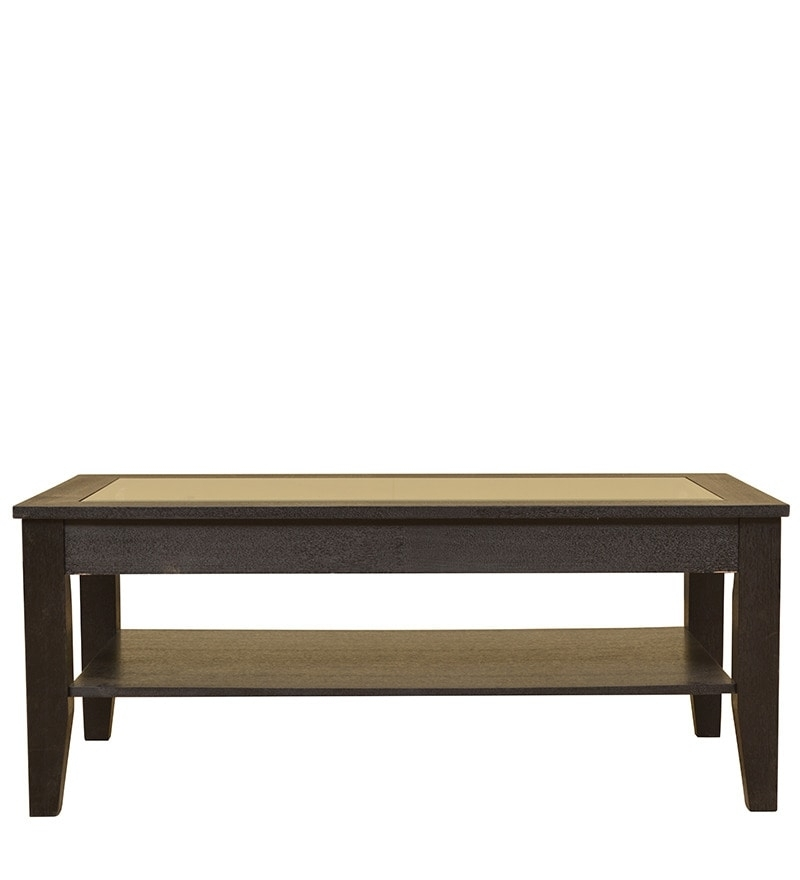 Buy Abby Glass Top Veneer Centre Table In Dark Brown Colour In Abby Cocktail Tables (View 12 of 40)