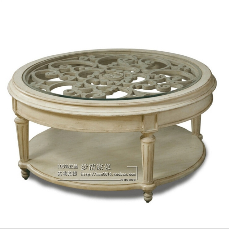 Buy American Neo Classical European Style Coffee Table Carved Wood Intended For Round Carved Wood Coffee Tables (Image 4 of 40)