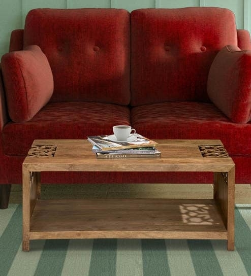 Buy Batik Center Table In Cherry Finish@home Online – Eclectic In Batik Coffee Tables (View 8 of 40)