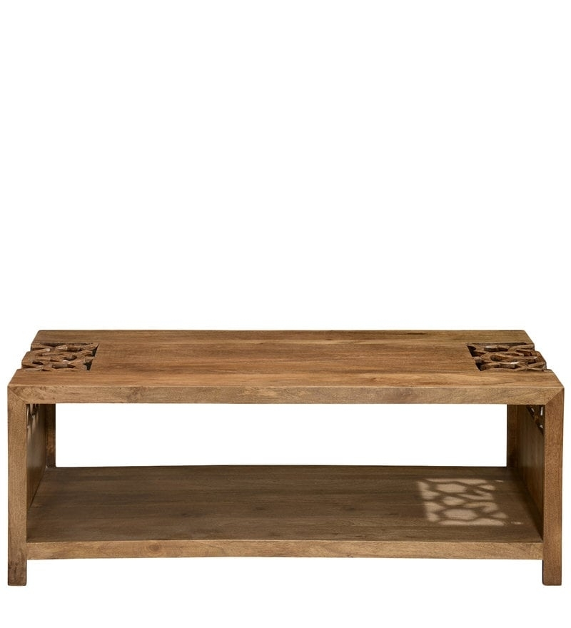 Buy Batik Center Table In Cherry Finish@home Online – Eclectic Throughout Batik Coffee Tables (Image 11 of 40)