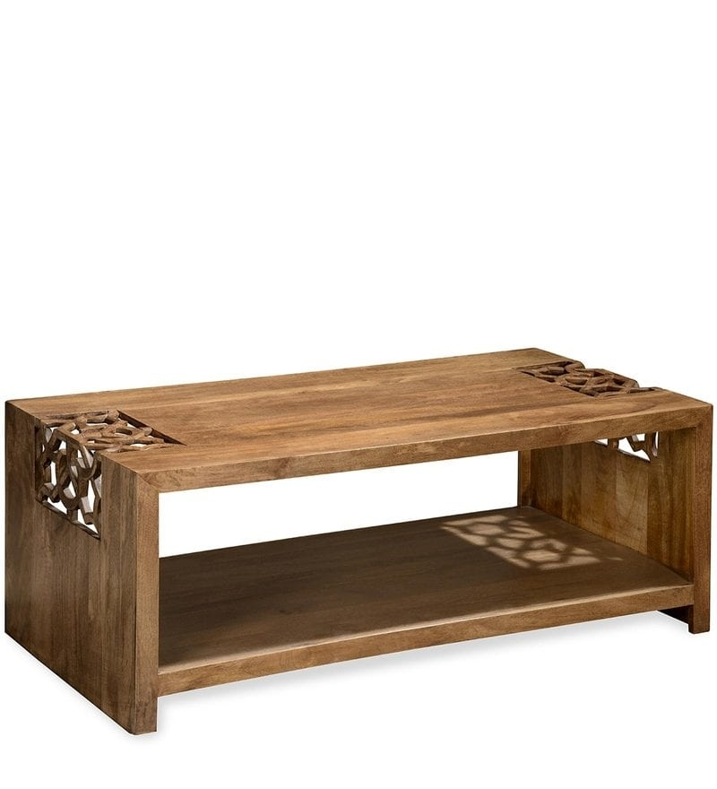 Buy Batik Center Table In Cherry Finish@home Online – Eclectic With Regard To Batik Coffee Tables (Image 13 of 40)