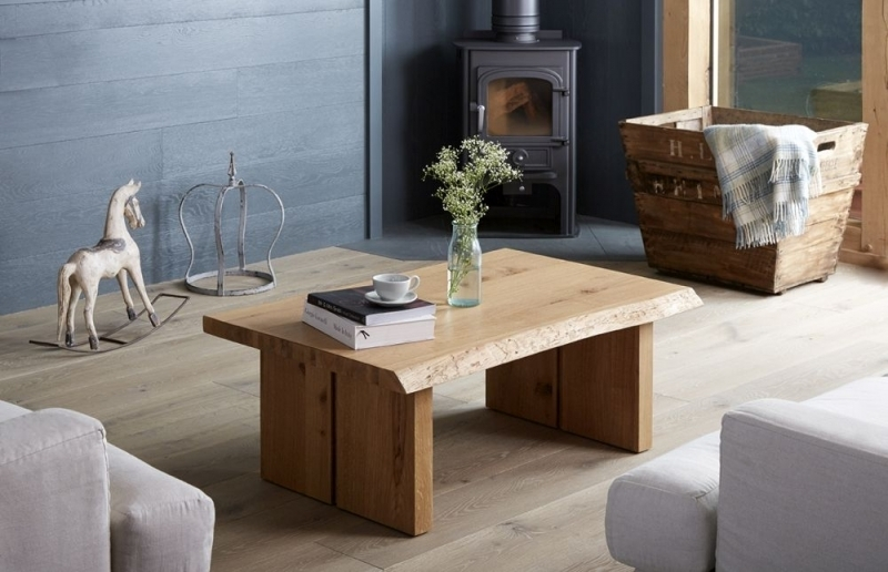 Buy Corndell Oak Mill Waxed Oak Coffee Table With Wooden Legs Online Pertaining To Mill Coffee Tables (Image 7 of 40)