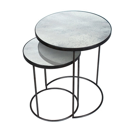 Buy Notre Monde Nesting Side Table Set | Amara Pertaining To Set Of Nesting Coffee Tables (View 11 of 40)