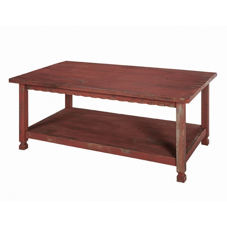 Buy Red Coffee, Console, Sofa & End Tables Online At Overstock Inside Natural 2 Drawer Shutter Coffee Tables (View 36 of 40)
