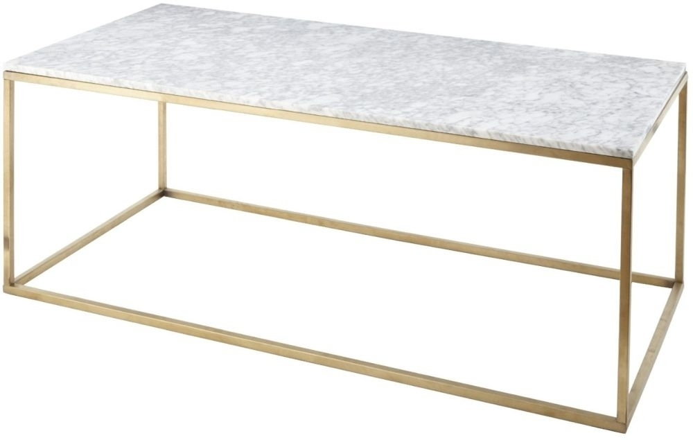 Buy Rv Astley Alois White Marble And Antique Brass Coffee Table Regarding Antique Brass Coffee Tables (Image 11 of 40)