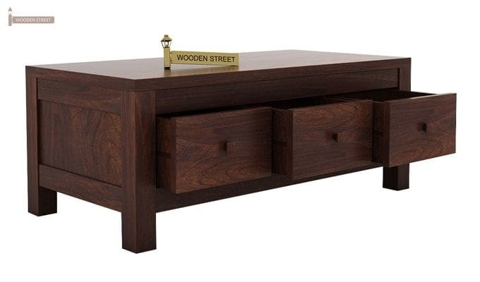 Buy Turner 6 Drawer Coffee Table (Walnut Finish) Online In India Throughout Walnut Finish 6 Drawer Coffee Tables (Image 13 of 40)