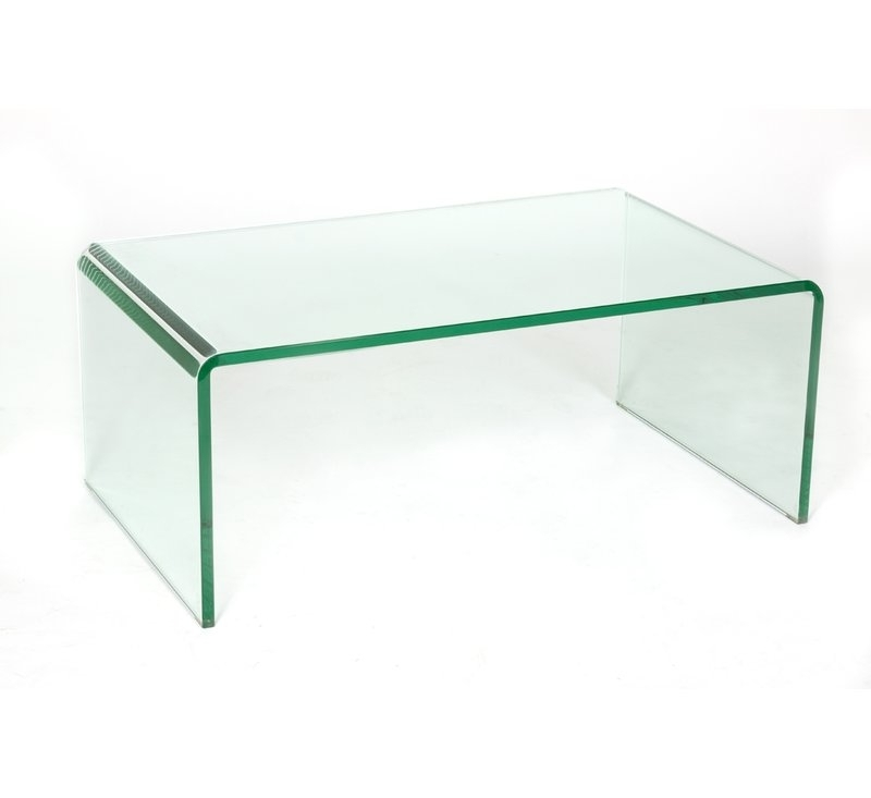 C2A Designs Waterfall Glass Coffee Table | Wayfair In Square Waterfall Coffee Tables (View 5 of 40)
