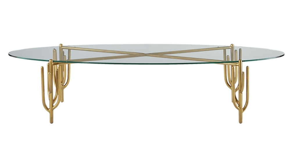 Cacti Brass Coffee Table + Reviews | Cb2 Intended For Cacti Brass Coffee Tables (Image 11 of 40)