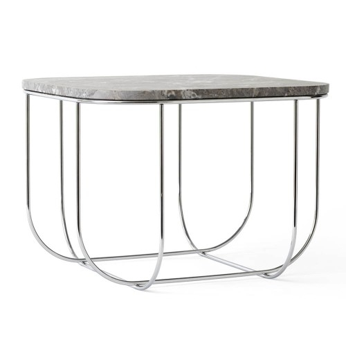 Cage Coffee Table, Chrome/ Marble, Menu – Designers Avenue Pertaining To Suspend Ii Marble And Wood Coffee Tables (Image 5 of 40)