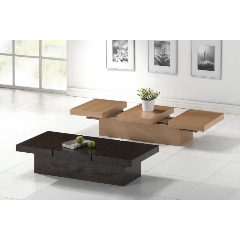 Cambridge Brown Wood Modern Coffee Table With Hidden Storage | See White Within Inverted Triangle Coffee Tables (View 35 of 40)