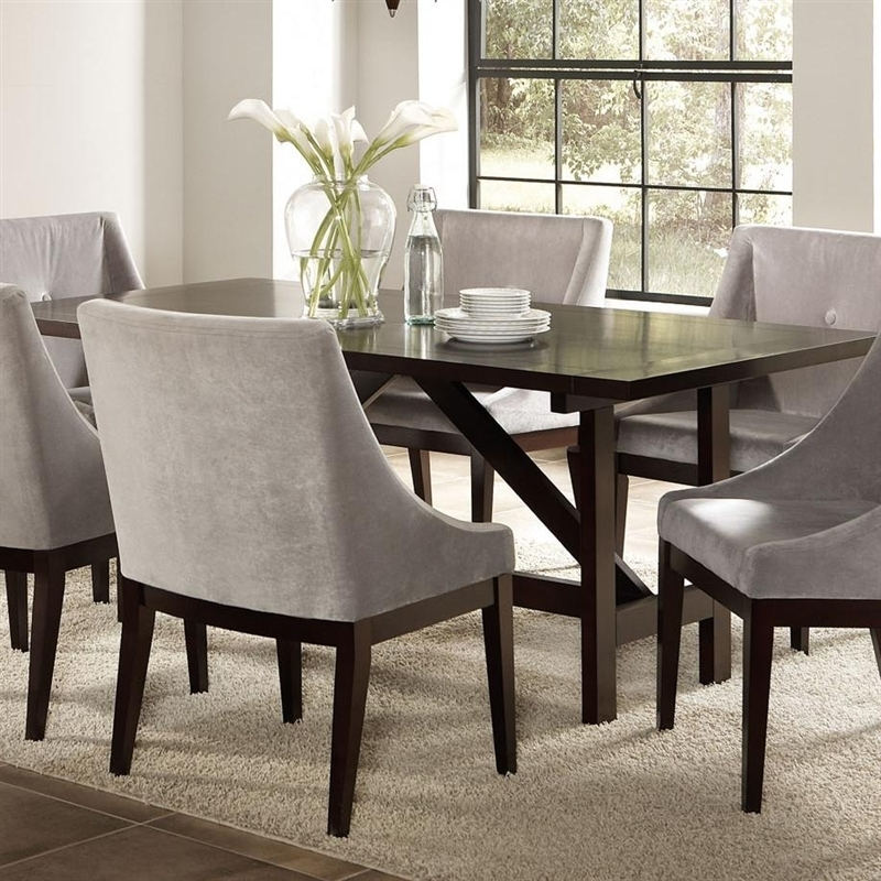 Candice 7 Pc Dining Table Set In Cappuccino Finishcoaster – 102230 Intended For Candice Ii Storage Cocktail Tables (Photo 34 of 40)