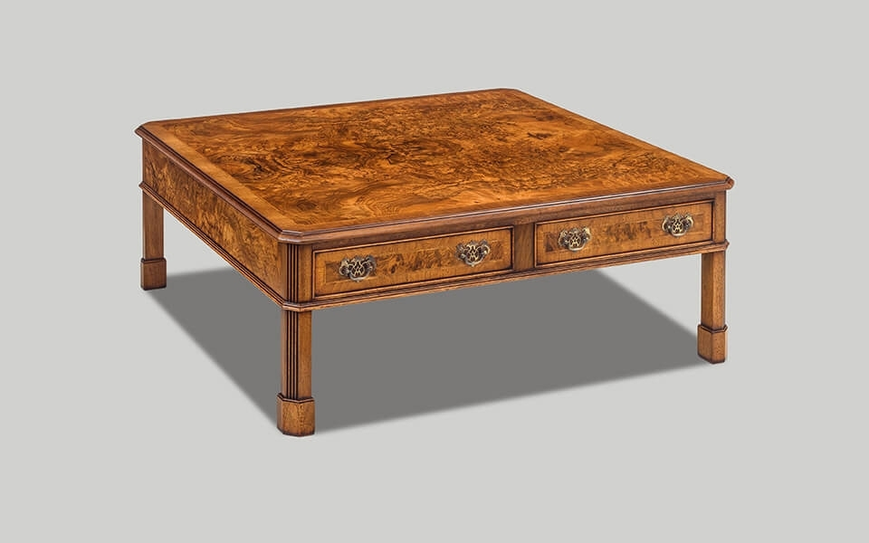 Canted Coffee Table Square 4 Drawer | Choice Furniture With Walnut 4 Drawer Coffee Tables (View 10 of 40)