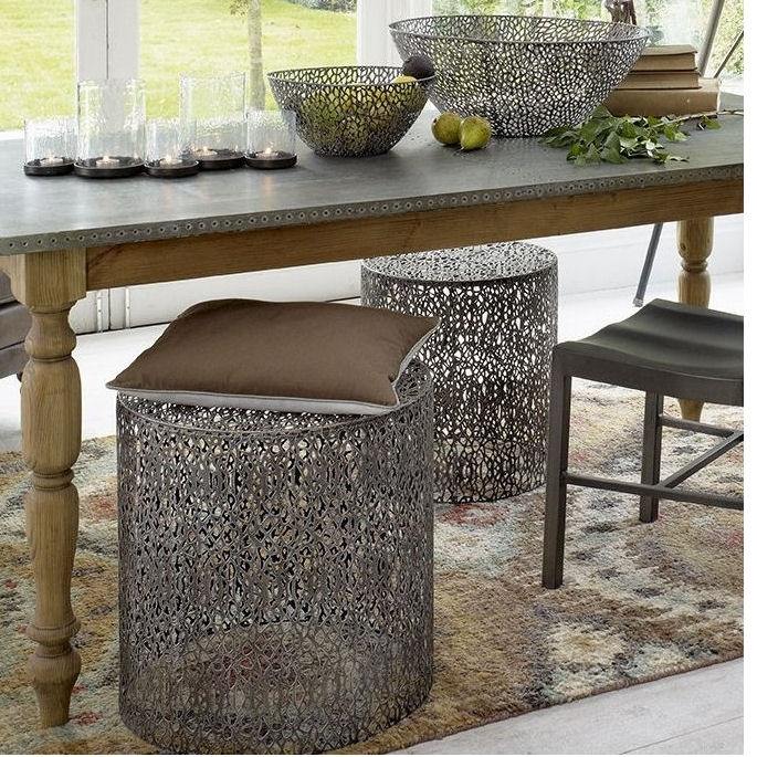 Caprio Set Of Two Grey Nesting Side Tables – Azura Home Style Throughout Set Of Nesting Coffee Tables (View 17 of 40)