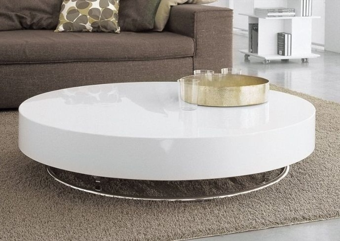Captivating Round White Coffee Tables With Shroom White Cocktail With Regard To Shroom Coffee Tables (Image 5 of 40)