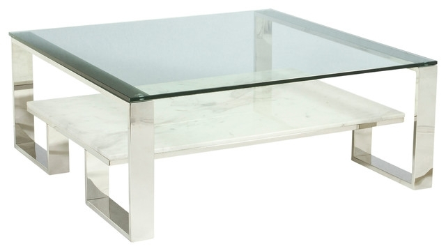 Cara Square Cocktail Table – Contemporary – Coffee Tables – For Cara Cocktail Tables (Photo 8 of 40)