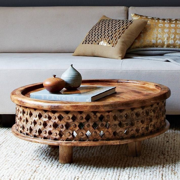 Carved Wood Coffee Table, Cafe | Wood Coffee Tables, Carved Wood And Throughout Round Carved Wood Coffee Tables (Image 14 of 40)