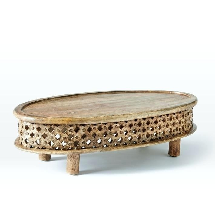 Carved Wood Coffee Table Carved Wooden Coffee Tables Nice Rustic Inside Round Carved Wood Coffee Tables (Image 10 of 40)