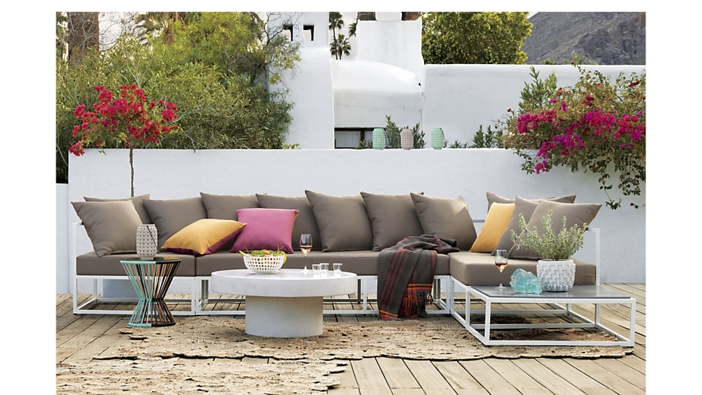 Casbah Outdoor Low Side Table + Reviews | Cb2 In Casbah Coffee Side Tables (Image 18 of 40)