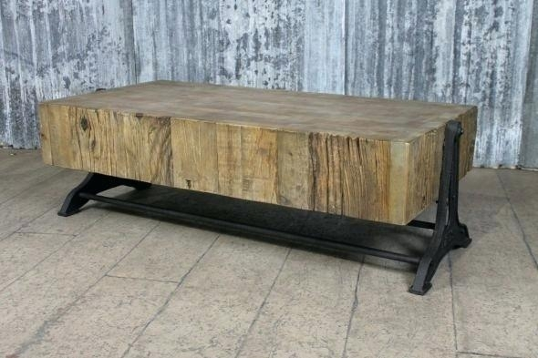 Cast Base Coffee Table For Reclaimed Elm Cast Iron Coffee Tables (View 12 of 40)