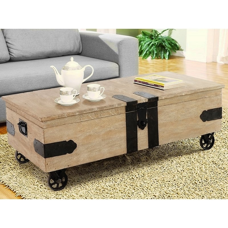 Casual Elements Utility Trunk Coffee Table With Lift Top Wayfair With Regard To Rectangular Barbox Coffee Tables (Image 14 of 40)