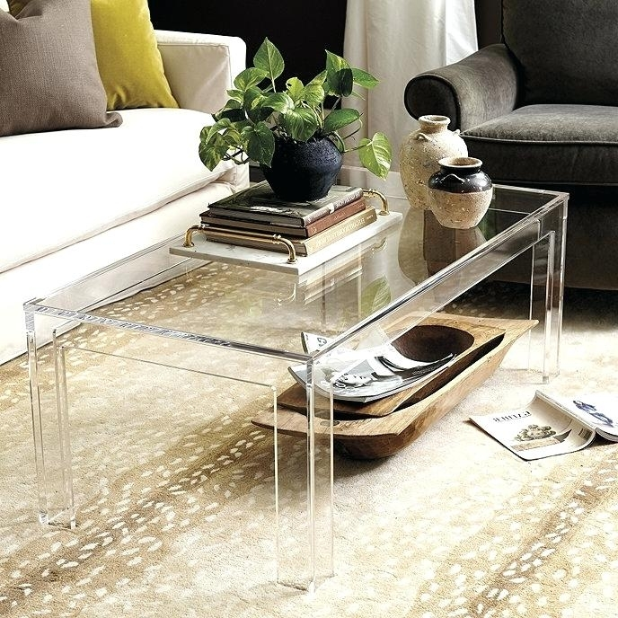 Cb2 Acrylic Coffee Table – Globalereg (Image 9 of 40)