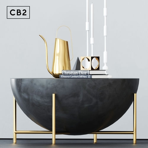 Cb2 Darbuka Brass Coffee Table 3D | Cgtrader Regarding Darbuka Black Coffee Tables (View 40 of 40)
