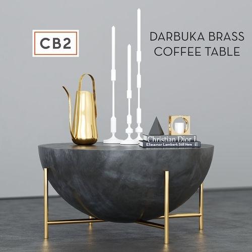 Cb2 Darbuka Brass Coffee Table 3D | Cgtrader Regarding Darbuka Brass Coffee Tables (View 1 of 40)