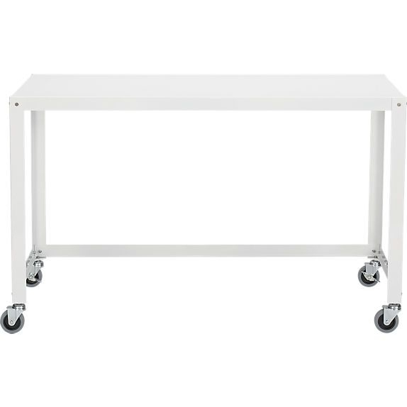 Cb2 / Go Cart Desk White $149 | Office | Pinterest | Rolling Desk Intended For Go Cart White Rolling Coffee Tables (View 7 of 40)